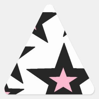 pink and black stars.jpg triangle sticker