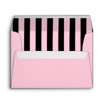 Pink and Black Striped Envelope