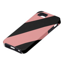 Pink and Black Striped IPhone 5 Case