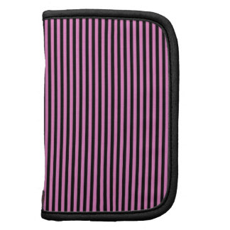 Pink and Black Stripes Folio Planners