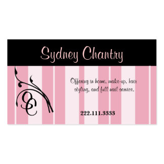 Pink and Black Stylish Business Card