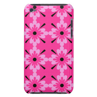 Pink and Black Surf Flowers Case-Mate iPod Touch Case