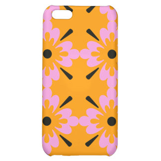 Pink and Black Surf Flowers iPhone 5C Cases
