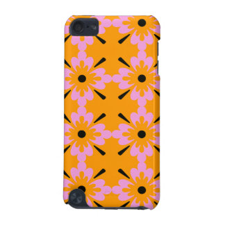 Pink and Black Surf Flowers iPod Touch 5G Case