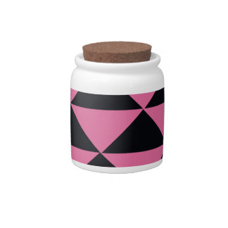 Pink and Black Triangles Candy Jars
