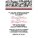 Pink and Black Wedding Invitation invitation