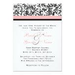 "Pink and Black Wedding Invitation 5"" X 7"" Invitation Card"