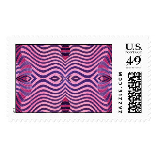 pink and black wild postage stamp