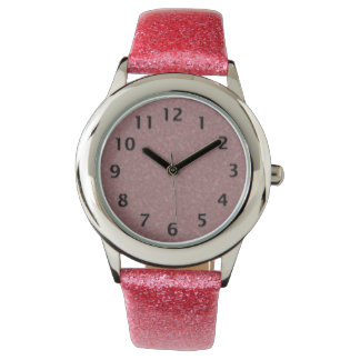 Pink and Black Wristwatch