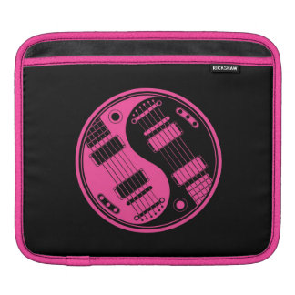 Pink and Black Yin Yang Guitars Sleeves For iPads