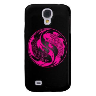 Pink and Black Yin Yang Koi Fish Galaxy S4 Case