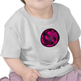 Pink and Black Yin Yang Koi Fish Shirt
