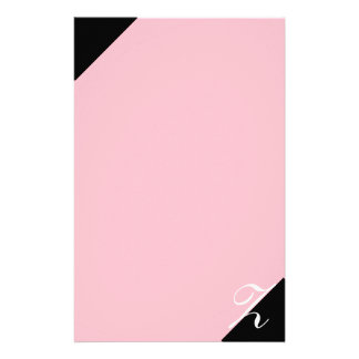 Pink and Black Z Monogram Stationery