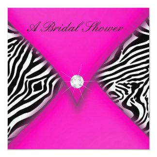 Pink and Black Zebra Bridal Shower Card