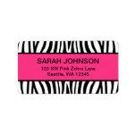 Pink and Black Zebra Label