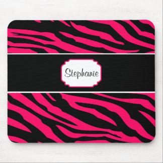 Pink and Black Zebra Personalized Coffee Mug Mouse Pad