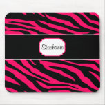 Pink and Black Zebra Personalized Coffee Mug Mouse Pads