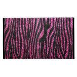 Pink and Black Zebra Print bling (faux glitter) iPad Folio Cases
