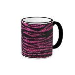 Pink and Black Zebra Print bling (faux glitter) Mug