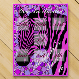 Pink And Black Zebra Sweet 16 Celebration Invite Chocolate Countdown Calendar