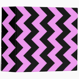 Pink and Black Zigzag Binder