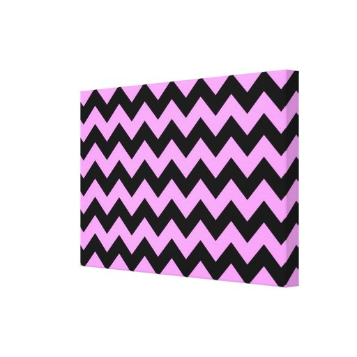 Pink and Black Zigzag Gallery Wrap Canvas
