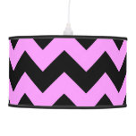 Pink and Black Zigzag Lamps