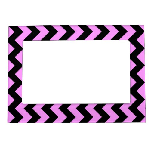 Pink and Black Zigzag Magnetic Photo Frame