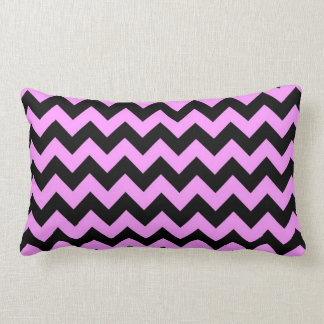 Pink and Black Zigzag Pillows