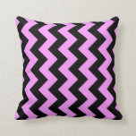 Pink and Black Zigzag Pillow