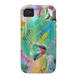 pink and blue abstract design iPhone 4 case