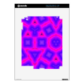 Pink and blue abstract pattern iPad 2 skin