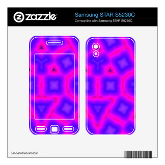 Pink and blue abstract pattern samsung STAR S5230C decal
