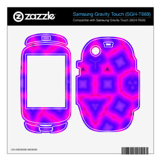 Pink and blue abstract pattern samsung gravity touch skin
