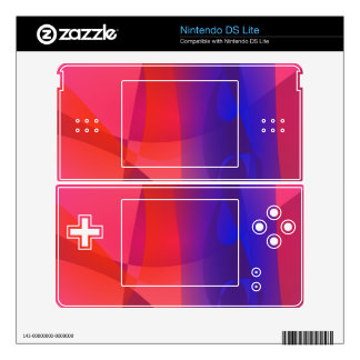 Pink and Blue Abstract World Nintendo DS Lite Decal