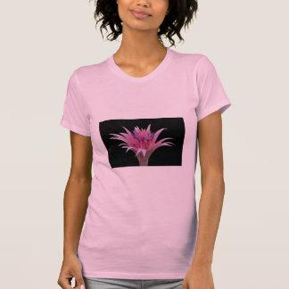 Pink and Blue Aechmea Black Shirt