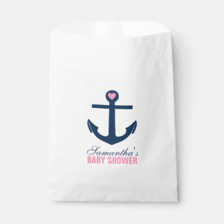 Pink and Blue Anchor Favor Bag
