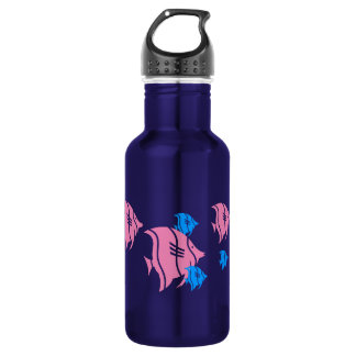 Pink and Blue Angel Fish 18oz Water Bottle