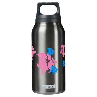 Pink and Blue Angel Fish Insulated Water Bottle