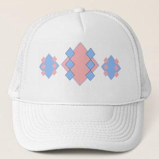 Pink and Blue Argyle Cap