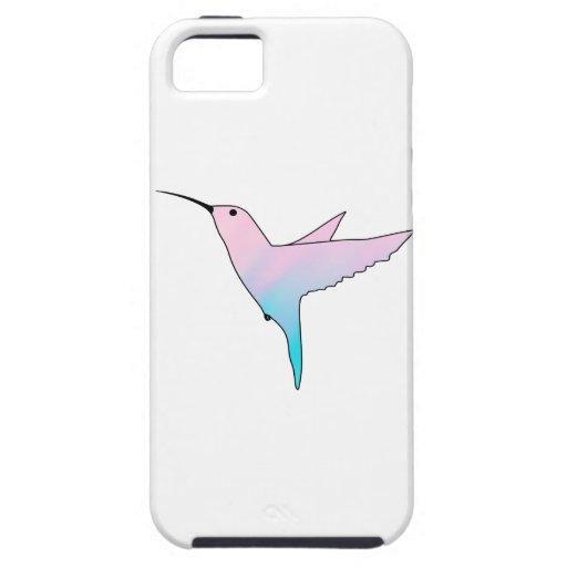 Pink and Blue art Hummingbird iPhone 5 Case