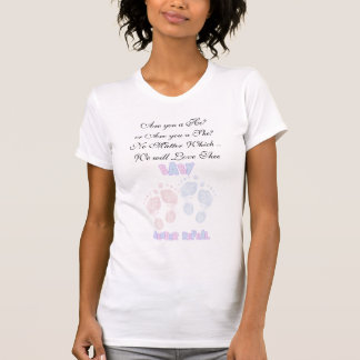 Pink and Blue Baby Footprints Expecting T-Shirt