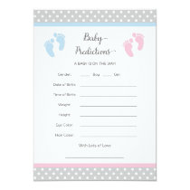 Pink and Blue Baby Prediction Card