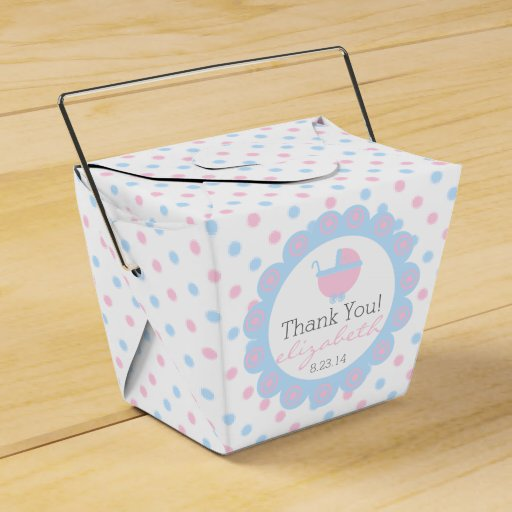 Blue Lightning Favor Boxes : Pink and blue baby shower favor box zazzle