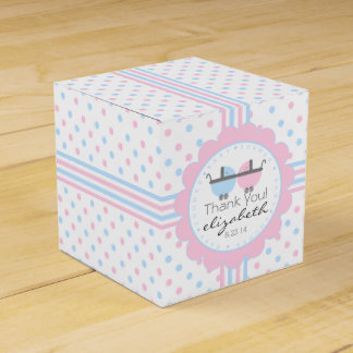 Pink and Blue-Baby Shower Favor Boxes