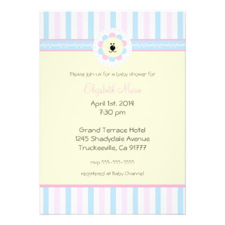 Pink and Blue-Baby Shower- Invitation