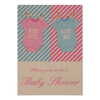 Pink and blue Baby Shower Invite Twins opt 2