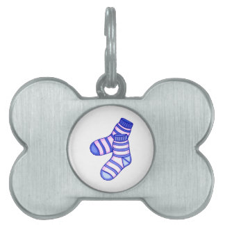 Pink and blue baby sock graphic pet tags