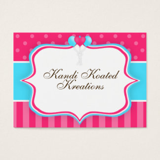 Pink and Blue Balloons Business Card