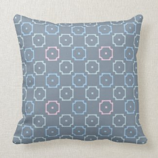 Pink and Blue Block Pattern Reversible